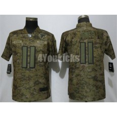 Women Nike Atlanta Falcons #11 Julio Jones Camo Salute To Service Limited Jersey