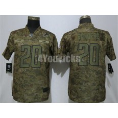 Women Nike Detroit Lions #20 Barry Sanders Camo Salute To Service Limited Jersey