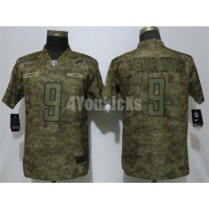 Women Nike Detroit Lions #9 Matthew Stafford Camo Salute To Service Limited Jersey