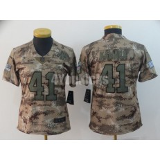 Women Nike New Orleans Saints #41 Alvin Kamara Camo Salute To Service Limited Jersey