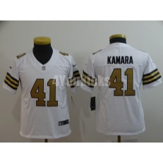 Youth Nike New Orleans Saints #41 Alvin Kamara White Color Rush Limited Jersey