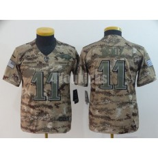 Youth Nike Philadelphia Eagles #11 Carson Wentz Camo Salute To Service Limited Jersey