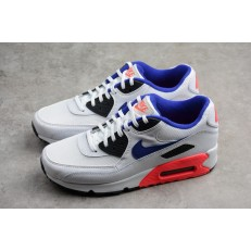 NIKE AIR MAX 90 ESSENTIAL WHITE ULTRAMARINE SOLAR RED BLACK 537384-136