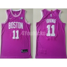 Boston Celtics #11 Kyrie Irving Purple Nike Authentic Jersey