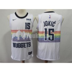 Denver Nuggets #15 Nikola Jokic White 2018-19 City Edition Nike Swingman Jersey