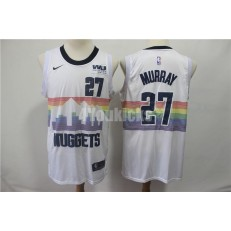 Denver Nuggets #27 Jamal Murray White 2018-19 City Edition Nike Swingman Jersey