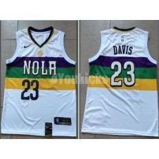New Orleans Pelicans #23 Anthony Davis White 2018-19 City Edition Nike Swingman Jersey