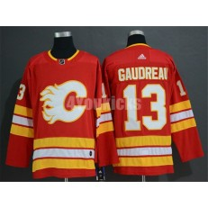 Calgary Flames #13 Johnny Gaudreau Red Alternate Adidas NHL Men Jersey