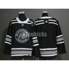 Chicago Blackhawks Blank Black 2019 Winter Classic Adidas NHL Men Jersey