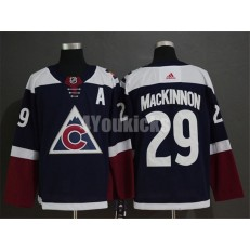 Colorado Avalanche #29 Nathan MacKinnon Navy Alternate Adidas NHL Men Jersey