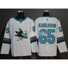 San Jose Sharks #65 Erik Karlsson White Adidas NHL Men Jersey