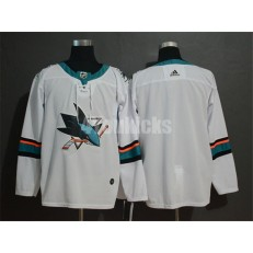 San Jose Sharks Blank White Adidas NHL Men Jersey