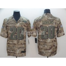 Philadelphia Eagles #20 Brian Dawkins Camo Salute To Service Limited Nike NFL Men Jersey