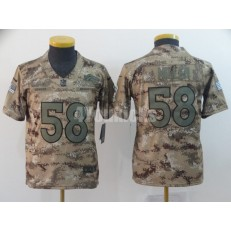 Youth Nike Denver Broncos #58 Von Miller Camo Salute To Service Limited Jersey