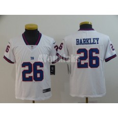 Youth Nike New York Giants #26 Saquon Barkley White Color Rush Limited Jersey