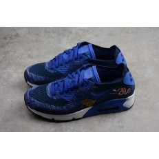 NIKE AIR MAX 90 ULTRA 2.0 FLYKNIT DARK UNIVERSITY BLUEWHITE 875943-400