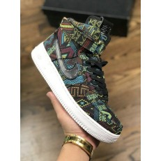 NIKE AIR FORCE 1 HI BHM QS BLACK SUMMIT WHITE 836227-001