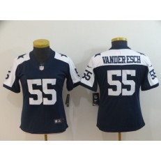 Women Nike Dallas Cowboys #55 Leighton Vander Esch Navy Alternate Vapor Untouchable Limited Jersey