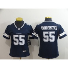 Women Nike Dallas Cowboys #55 Leighton Vander Esch Navy Vapor Untouchable Limited Jersey