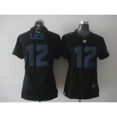 Women Nike Indianapolis Colts #12 Andrew Luck Black Impact Limited Jersey