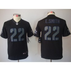 Youth Nike Dallas Cowboys #22 Emmitt Smith Black Impact Limited Jersey