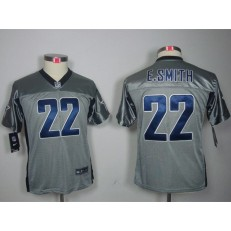 Youth Nike Dallas Cowboys #22 Emmitt Smith Gray Lights Out Limited Jersey
