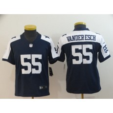 Youth Nike Dallas Cowboys #55 Leighton Vander Esch Navy Alternate Vapor Untouchable Limited Jersey