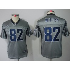 Youth Nike Dallas Cowboys #82 Jason Witten Gray Lights Out Limited Jersey