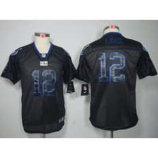 Youth Nike Indianapolis Colts #12 Andrew Luck Black Shadow Limited Jersey