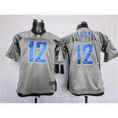 Youth Nike Indianapolis Colts #12 Andrew Luck Gray Lights Out Limited Jersey