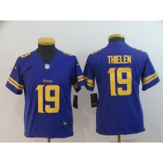 Youth Nike Minnesota Vikings #19 Adam Thielen Purple Color Rush Limited Jersey