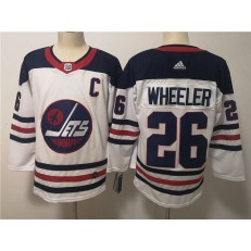 Winnipeg Jets #26 Blake Wheeler White Breakaway Heritage Adidas NHL Men Jersey