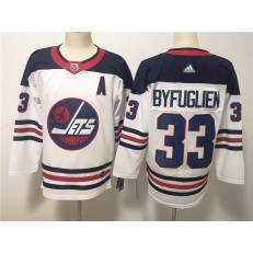 Winnipeg Jets #33 Dustin Byfuglien White Breakaway Heritage Adidas NHL Men Jersey