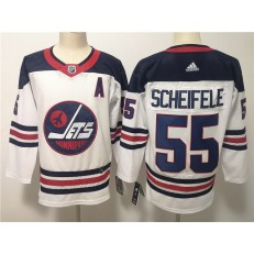Winnipeg Jets #55 Mark Sceifele White Breakaway Heritage Adidas NHL Men Jersey