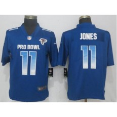 Atlanta Falcons #11 Julio Jones Royal Nike NFC 2019 Pro Bowl Limited Jersey