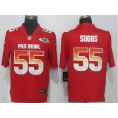Baltimore Ravens #55 Terrell Suggs Red Nike AFC 2019 Pro Bowl Limited Jersey