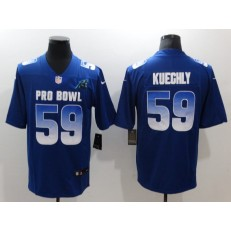 Carolina Panthers #59 Luke Kuechly Royal Nike NFC 2019 Pro Bowl Game Jersey