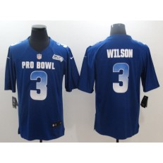 Seattle Seahawks #3 Russell Wilson Royal Nike NFC 2019 Pro Bowl Game Jersey