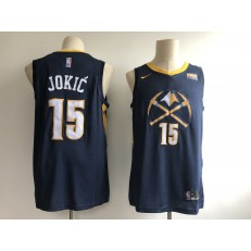 Denver Nuggets #15 Nikola Jokic Navy 2018-19 City Edition Nike Swingman Jersey