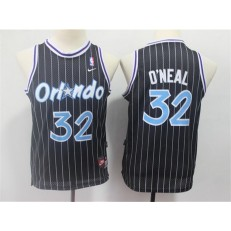 Orlando Magic #32 Shaquille O'neal Black Youth Throwback Jersey
