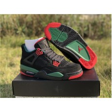 AIR JORDAN 4 NRG BLACK GORGE GREEN VARSITY RED AQ3816-063