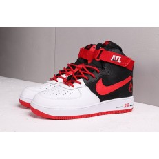 NIKE AIR FORCE 1 HI ATLANTA AWAY WHITE UNIVERSITY RED BLACK BV9206-100