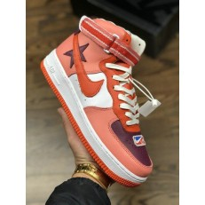 RICCARDO TISCI X NIKELAB AIR FORCE 1 HI SUNBLUSH BORDEAUX TEAM ORANGE AQ3366-601