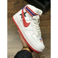 RICCARDO TISCI X NIKELAB AIR FORCE 1 HI WHITE UNIVERSITY RED BLACK AQ3366-100