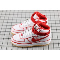 NIKE AIR FORCE 1 HI PRM 07 LV8 WHITE RED 806403-101