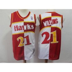 Atlanta Hawks #21 Dominique Wilkins Red White 1987-88 Hardwood Classics Jersey