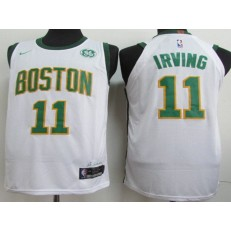 Boston Celtics #11 Kyrie Irving White 2018-19 City Edition Nike Authentic Jersey