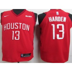 Houston Rockets #13 James Harden Red 2018-19 Earned Edition Nike Authentic Jersey