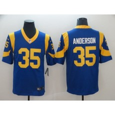 Los Angeles Rams #35 C.J. Anderson Royal Vapor Untouchable Limited Nike NFL Men Jersey