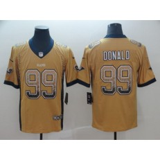 Los Angeles Rams #99 Aaron Donald Gold Drift Fashion Limited Nike NFL Men Jersey